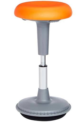 Orange Color, Backless design, Comfortable PU Seat AmazonBasics Adjustable Activity Office Tilt Stool.