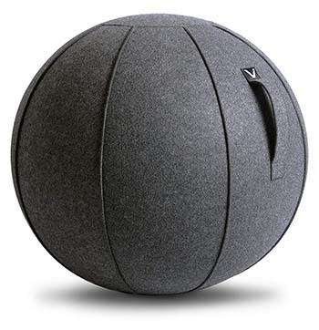 An image of Vivora Luno Exercise Ball Chair in Grey color
