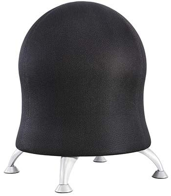 An image of Zenergy Ball Chair With Legs in Black color