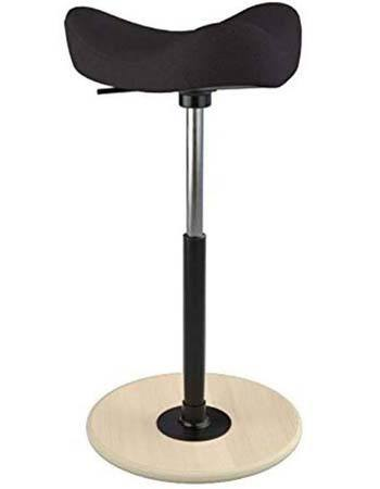 An image of Varier Move Stool in Black color