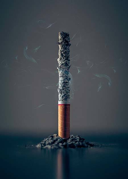 Standing Cigarette Stick Smoking