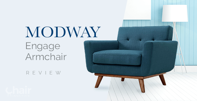 Modway Engage Armchair in Azure Color
