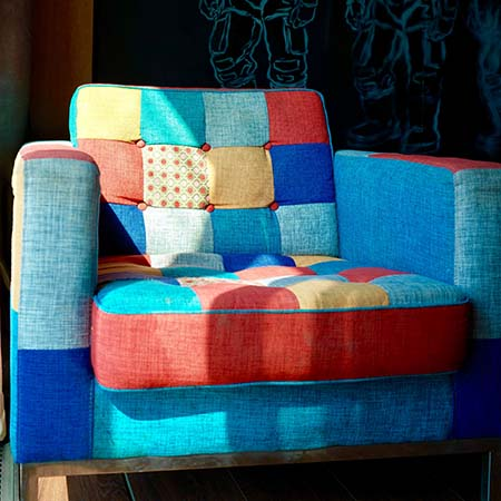 Multicolor Fabric Upholstered Chair