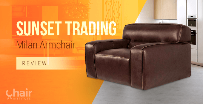 Sunset Trading Milan Armchair in contemporary room