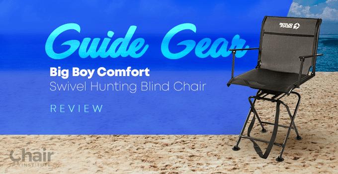 Guide Gear Big Boy Comfort Swivel Hunting Blind Chair
