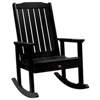 A smaller image of Highwood Lehigh Rocking Chair in Black color.