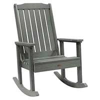 A smaller image of Highwood Lehigh Rocking Chair in Charleston Coastal Teak color.