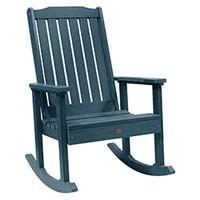 A smaller image of Highwood Lehigh Rocking Chair in Charleston Nantucket Blue color.