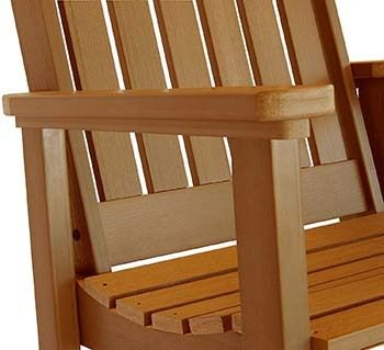 Fade resistant material, Stainless steel, Highwood Lehigh Outdoor Rocking Chair