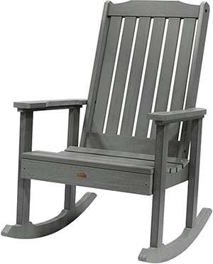 Coastal Teak, Durable, Highwood Lehigh Rocking Chair