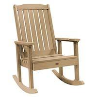A smaller image of Highwood Lehigh Rocking Chair in Tuscan Taupe color.
