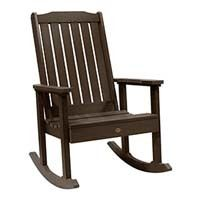 A smaller image of Highwood Lehigh Rocking Chair in Weathered Acorn color.