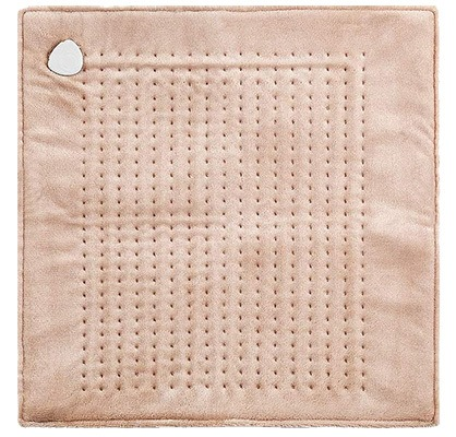 Electric Heating Pad, Treating Back Pain At Home, Light Brown