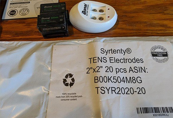 Syrtenty TENS Unit Pads and BONAI 6F22 Battery, Treating Back Pain At Home, All Products