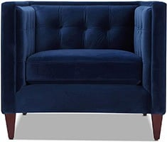 Estate Blue, Jennifer Taylor Jack Tufted Arm Chair, Small