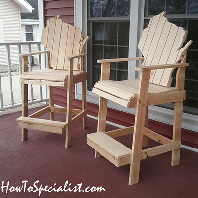 Bar Height Adirondack Chair from How to Specialist