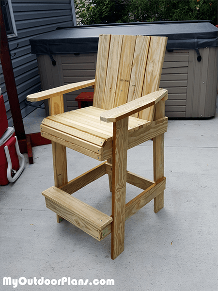Bar Height Adirondack Chair from MyOutdoorPlans