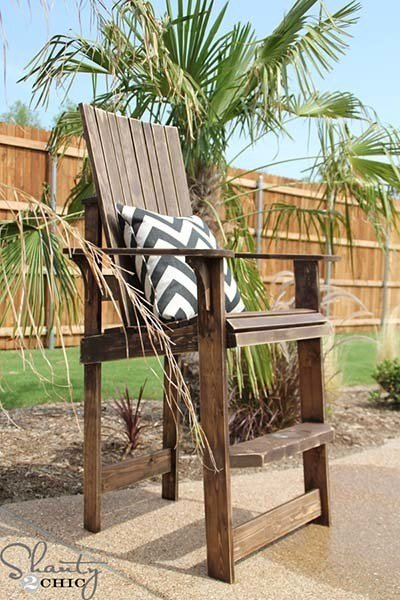 Bar Height Adirondack Chair from Shanty 2 Chic