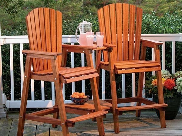 Bar Height Adirondack Chair from Woodworker's Journal