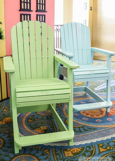 Counter Height Adirondack Chair from Kreg Build Something