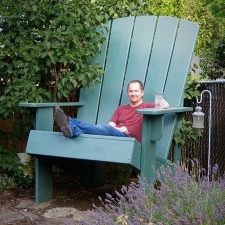 Oversized Adirondack Chair Plan