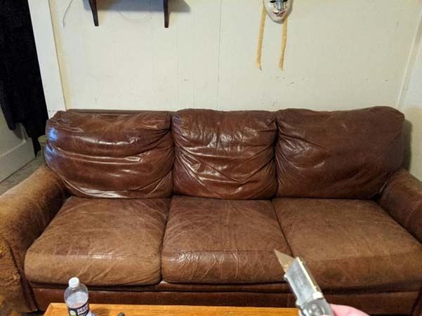 Photo of Couch Before I Took It Apart